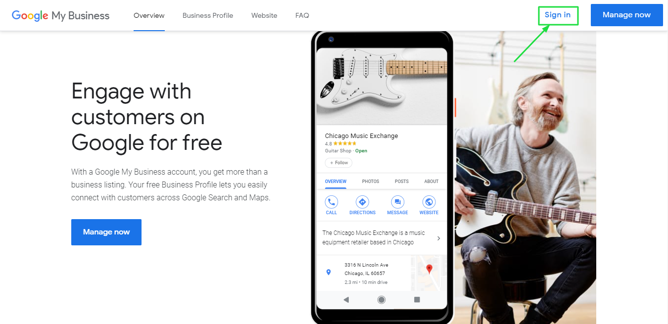 how to create google business account